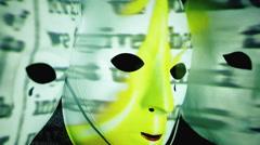 Masks scary Bible burning words Arkistovideo