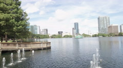 Lake Eola Park in downtown Orlando Stock Footage