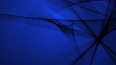 Abstract Black Shapes Move and Intersect on a Blue Background Stock Footage