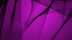 Abstract Black Shapes Move and Intersect on a Pink or Purple Background Stock Footage
