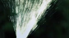 Water Jet Spraying Upwards Stock Footage