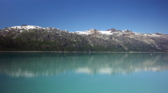 Calm Waters Of Glacier Bay National Park Alaska Stock Footage