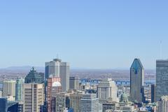 Montreal Skyline in spring Stock Photos