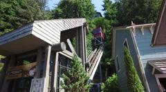 The Cape Fox Hotel Funicular Railway Ketchikan Alaska Stock Footage