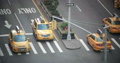 Manhattan New York City Traffic on Park Avenue 4K Stock Video Stock Footage