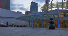 Metro Toronto Convention Center in the evening Stock Footage