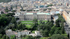 Vatican gardens, museum and square Stock Footage