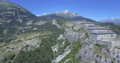 4K Aerial, Fyling Above Fort Victor-Emmanuel, France - native version Stock Footage