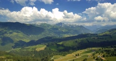 4K Aerial, Flying At Jaunpass, Switzerland - graded version Stock Footage