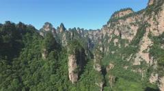Aerial Zhangjiajie National Park Avatar Stock Footage