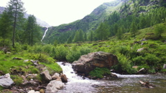 Wild River in a Valley Stock Footage