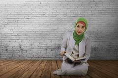 Young muslim asian woman with hijab style Stock Photos