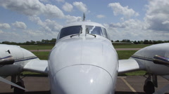 Piper Cheyenne I Turboprop Airplane Sitting on Airfield Stock Footage