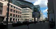 Buildings of Soviet construction, 1-ya Tverskaya-Yamskaya street, Moscow Stock Footage