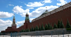 The historic Red square, The Moscow Kremlin Stock Footage