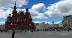 State Historical Museum, Red Square, Moscow Stock Footage
