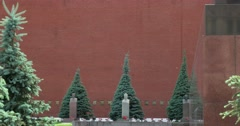 Kremlin Wall Necropolis Stock Footage