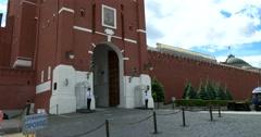 Spasskaya Tower, guard Stock Footage