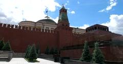 Lenin's Mausoleum, Kremlin Stock Footage