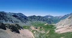 4K Aerial, Parco Naturale Del Gran Bosco Di Salbertrand, Italy - graded version Stock Footage