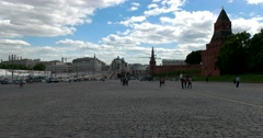 Vasilyevsky Spusk Square, historical square in Moscow Stock Footage