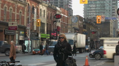 Downtown Toronto King St West and John St. Stock Footage