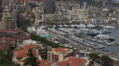 MONTE CARLO, MONACO - The Condamine and Hercule;s Port;ULTRA HD 4K,real time Stock Footage