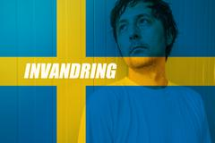 Immigrate to Sweden concept, Invandring meaning Immigration in Swedish Stock Photos