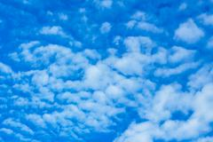 Blue sky and clouds in the fresh air. Stock Photos