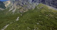4K Aerial, Flying along Autoroute De La Maurienne, France - graded version Stock Footage
