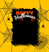 Halloween background with spider web Stock Illustration