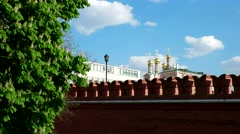 The bridge to enter the territory of the Moscow Kremlin, Trinity Bridge Stock Footage