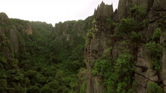 Aerial Limestone Mountain Karst Stock Footage