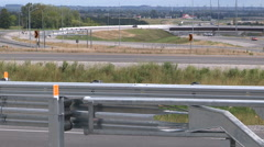 Highway 407 electronic toll highway in Ontario Canada Stock Footage