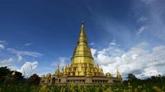 Wat Prabudhabaht Huay Toom, Phamahatrad jade sri wiang chai at Li,Lamphun provin Stock Footage