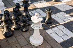 Playing Giant chess Stock Photos