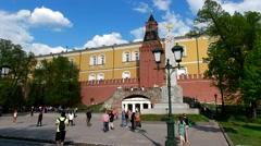 Grotto, Romanov obelisk, Alexander garden, The Kremlin wall Kremlin Stock Footage