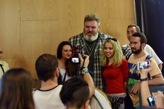 Kristian Nairn (Hodor, Game of Thrones) at a press conference Kuvituskuvat