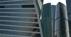 High-rise business center in Moscow Stock Footage