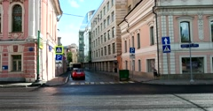 Quiet street in the historical center of Moscow Stock Footage