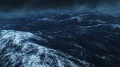 Stormy Rough Blue Ocean Stock Footage