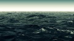 Green Wavy Ocean Scene Stock Footage