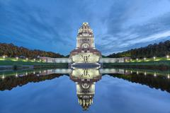 Monument to the Battle of the Nations in Leipzig Stock Photos