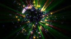 Shiny stars spreading out - Luma Key Stock Footage