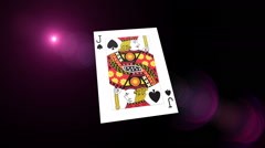 Flying Poker Cards With Abstract Background Stock Footage