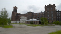 The big building of the Kreenholm textile factory Stock Footage