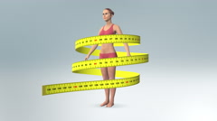 Young Female Dieting - Healthy Lifestyle Stock Footage