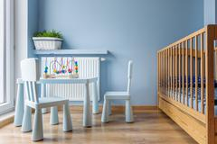 Sleep and play baby space idea Stock Photos
