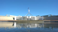 4k video of Parliament of Australia in Canberra Stock Footage