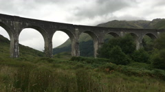 4K UltraHD Glenfinnan Viaduct in the Highlands of Scotland Stock Footage
